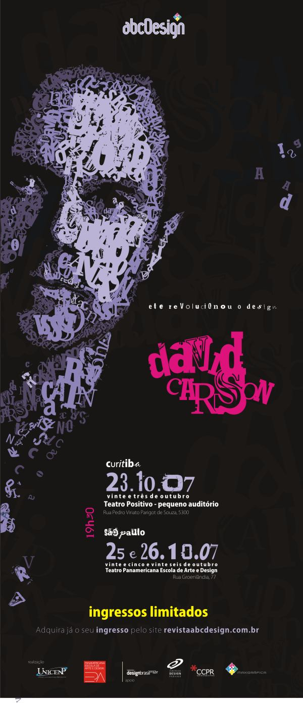 Palestra com David Carson