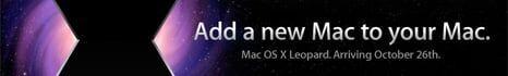 Mac OS X Leopard lançando no dia 26