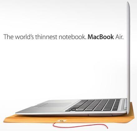 MacBook Air – O mais fino notebook do mundo
