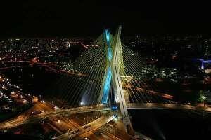 Iluminação da Ponte Estaiada …. São Paulo