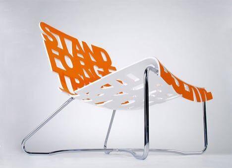 Tipografia na cadeira