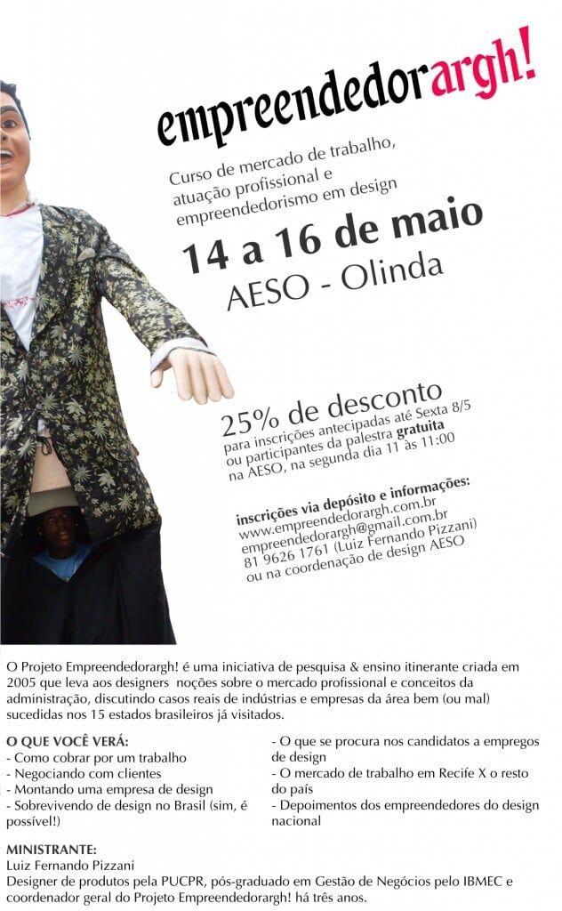 Curso de atuação profissional do designer em Pernambuco