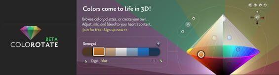 Paleta de cores 3D muito divertida