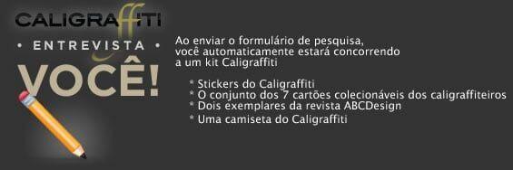 Caligraffiti faz pesquisa de perfil de leitores. Participe!