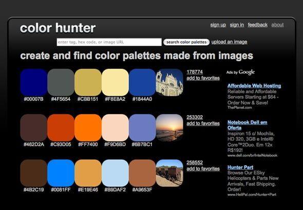 Crie paletas de cores a partir de suas fotos