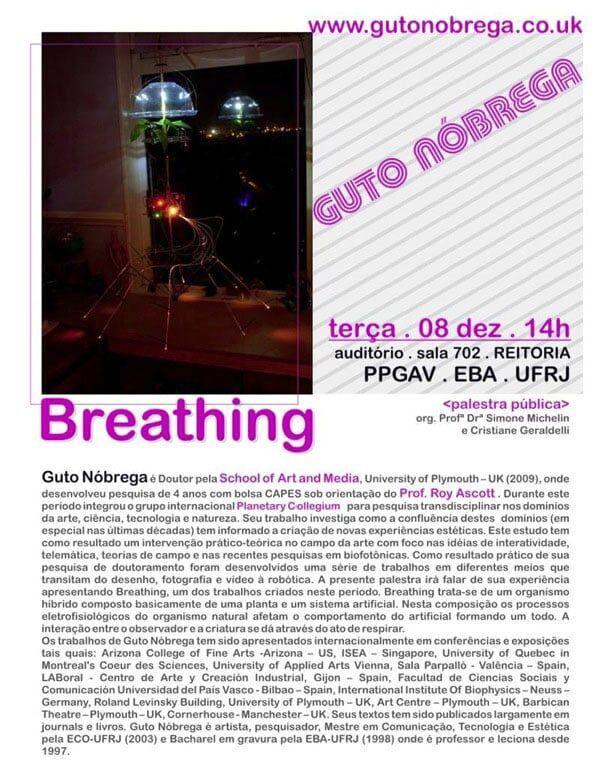 Palestra com Guto Nobrega na UFRJ