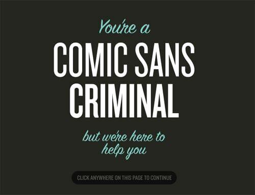 Comics Sans Criminals