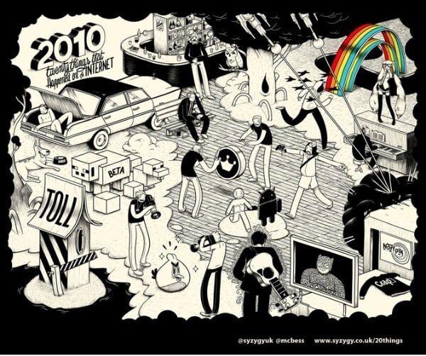 Enigma: 20 acontecimentos da internet de 2010 em 1 desenho