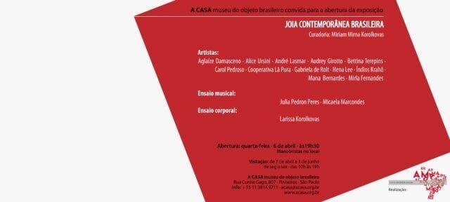 Exposição Joia Contemporânea Brasileira