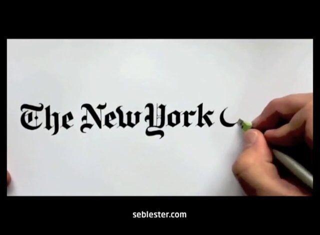 Designer recria os logos famosos mundialmente à mão
