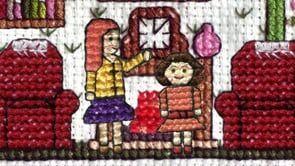 Animacao em ponto de cruz – Maggie and Mildred