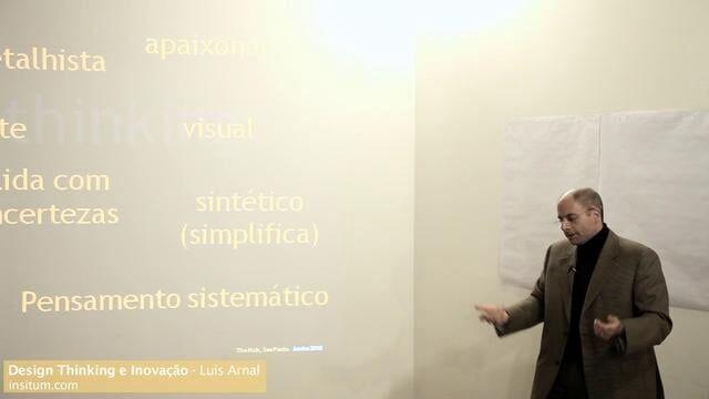 Palestra sobre Design Thinking e Inovação com Luis Arnal