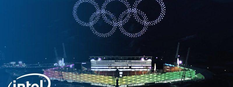 Intel faz show de luzes com 1.218 drones e bate recorde mundial nas Olimpíadas de Inverno
